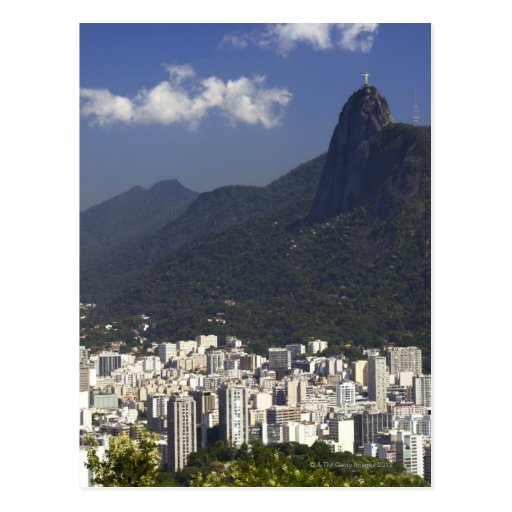Corcovado, das Rio de Janeiro, Brasilien übersieht Postkarten