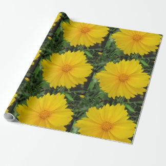 Coreopsis-gelbe Blumen-Blüte Geschenkpapier