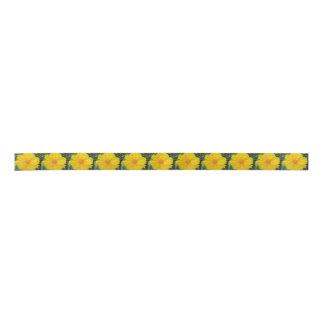 Coreopsis-gelbe Blumen-Blüte Satinband