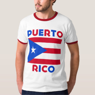 Corey Tiger-80er Vintage Puerto- Ricoflagge Tshirts