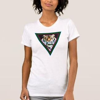 Corey Tiger-80er Vintage Tiger-Gesichts-Neon-Dreie Tshirt