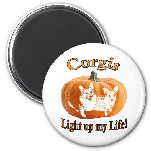 Corgi 2 leuchten meinem Leben Kühlschrankmagnet