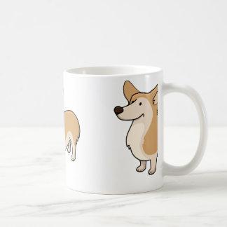 Corgi-Cartoon voll Kaffeetasse