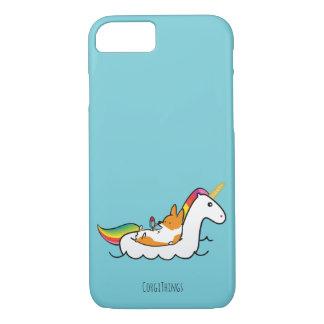 Corgi-Einhorn Floatie Telefon-Kasten iPhone 7 Hülle
