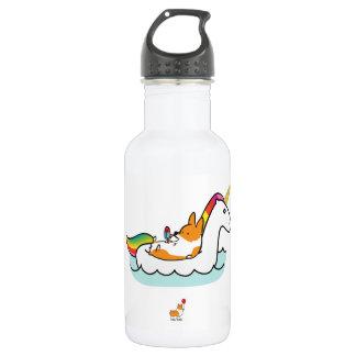 Corgi-Einhorn Floatie Wasser-Flasche Trinkflasche