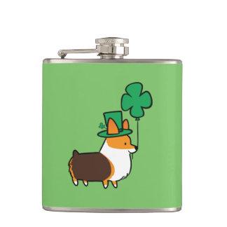 Corgi-Flasche St. Patricks rote Tricolor Tages Flachmann