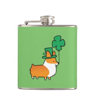 Corgi-Flasche St. Patricks Tages Flachmann