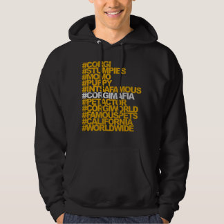Corgi Hashtags mit Kapuze Sweatshirt