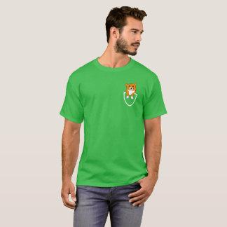 Corgi im Taschen-T - Shirt für Corgi-Inhaber u.