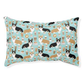 Corgi-Kaffee-Haustier-Bett - niedliches tricolored Haustierbett