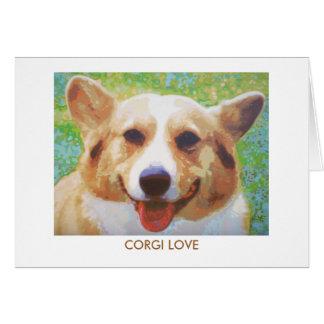 Corgi-Liebe Karte