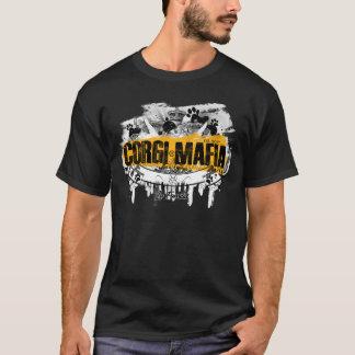 Corgi-Mafia-Fahnen-Schwarzes u. Gelb T-Shirt