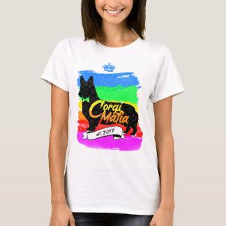 Corgi-Mafia-Marken-Logo-T - Shirt (Regenbogen)