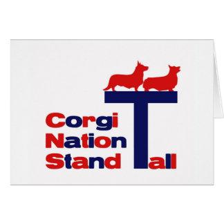 Corgi-Nations-Stand hoch Karte