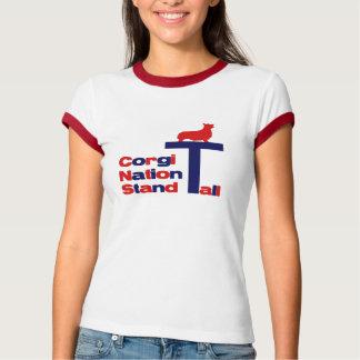 Corgi-Nations-Stand hoch T-Shirt