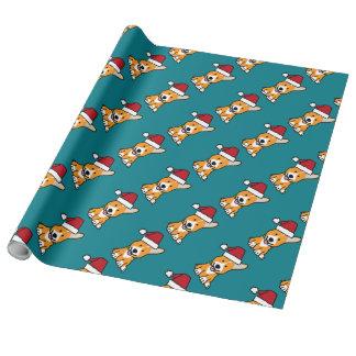 Corgihundewelpe Geschenkpapier