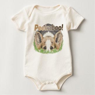 CorgiPeekaboo Baby Strampler
