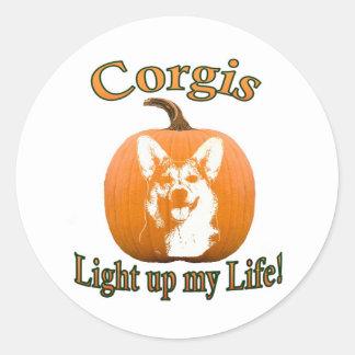 Corgis leuchten meinem Leben-Gimli Runder Sticker