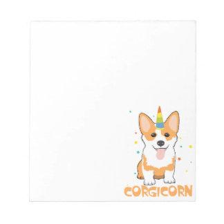 CorgiUnicorn - Corgicorn - niedlicher HundeCartoon Notizblock