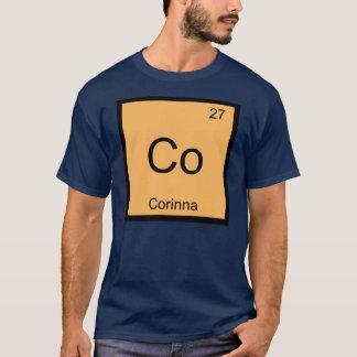 Corinnanamenschemie-Element-Periodensystem T-Shirt