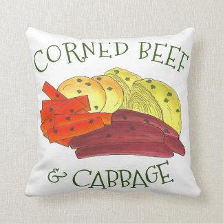 Corned-Beef Kohl gekochte Karotten-Kartoffeln Kissen