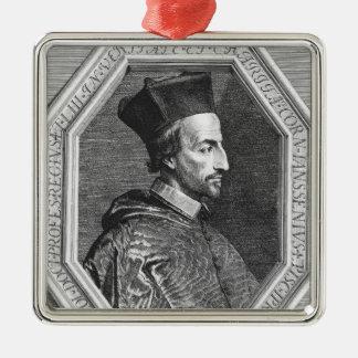 Cornelius Jansen, Bischof von Ypres Quadratisches Silberfarbenes Ornament