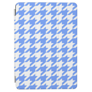 Cornflower-blaues Stimmungs-Hahnentrittmuster iPad Air Cover