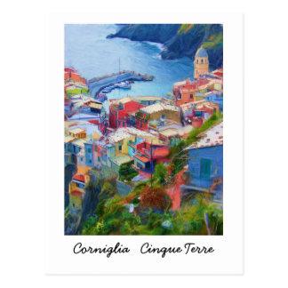 Corniglia Cinque Terre Italien Postkarte