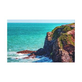 Cornwall die schroffen Küstenklippen Leinwanddruck