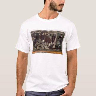 Coromandel Schirm, der Kräne darstellt T-Shirt
