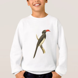 Coronated Hornbill-Vogel-Illustration Sweatshirt