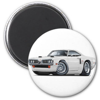 Coronet Funktelegrafie-Weiß-Auto 1970 Runder Magnet 5,1 Cm