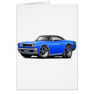 Coronet Funktelegrafiec$blau-schwarzes Spitzenauto Karte