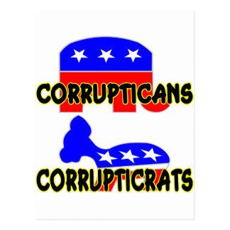 Corrupticans Corrupticrats Republikaner Demokrat Postkarte