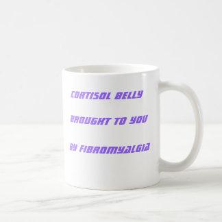 Cortisol-Bauch geholt Ihnen durch Fibromyalgia Kaffeetasse