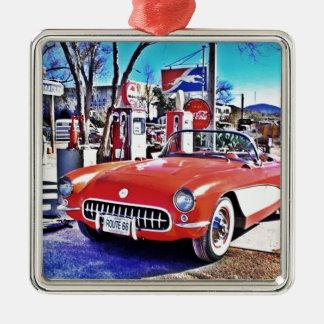 Corvette 66 silbernes ornament