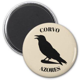 Corvo Insel-Magnet Runder Magnet 5,1 Cm
