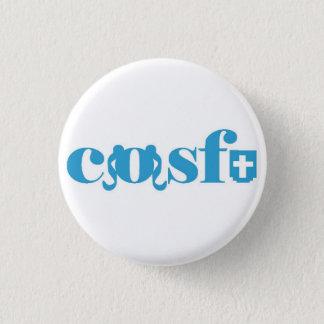 Cosfu - einfaches weißes Logo Runder Button 3,2 Cm