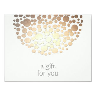 Cosmetology-Gold kreist 10,8 X 14 Cm Einladungskarte