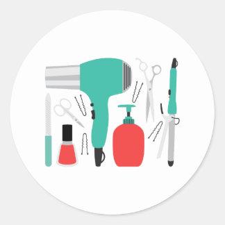 Cosmetology-Werkzeuge Runder Aufkleber