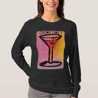 COSMO ZEIT-VIBRIERENDER ROSA UND GELBER DRUCK T-Shirt