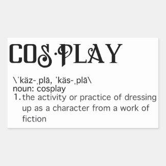 Cosplay Definitions-Aufkleber Rechteckiger Aufkleber