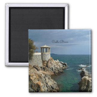 Costa Brava, landschaftliche Fotografie Spaniens Quadratischer Magnet