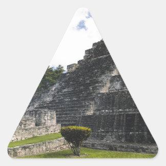 Costa-Maya Chacchoben Mayaruinen Dreieckiger Aufkleber
