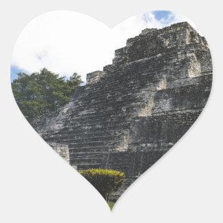 Costa-Maya Chacchoben Mayaruinen Herz-Aufkleber