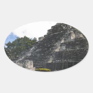 Costa-Maya Chacchoben Mayaruinen Ovaler Aufkleber