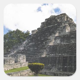 Costa-Maya Chacchoben Mayaruinen Quadratischer Aufkleber