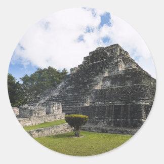 Costa-Maya Chacchoben Mayaruinen Runder Aufkleber
