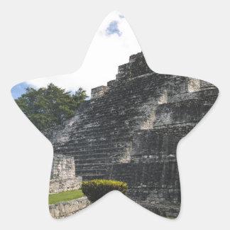 Costa-Maya Chacchoben Mayaruinen Stern-Aufkleber