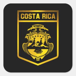 Costa Rica-Emblem Quadratischer Aufkleber